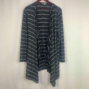 American Eagle Cardigan Striped Open Long Sleeve